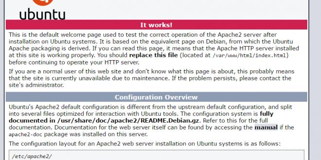 Tampilan install webserver ubuntu dengan apache