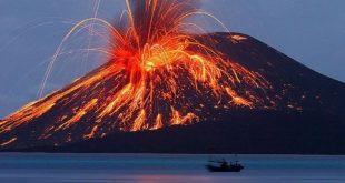 Contoh Kiamat Sugra - Gunung meletus