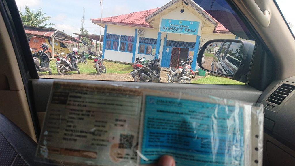 Cetak pajak Kendaraan di Samsat PALI